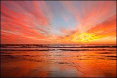 Sunset in El Porto, California