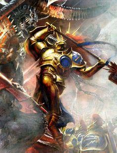 Epic Battle #ageofsigmar #warhammer #art #fantasy #aos #gamesworkshop #Stormcast #Chaos