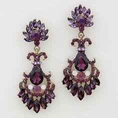 Purple Earrings - cindysglitznglamour | Scott's Marketplace
