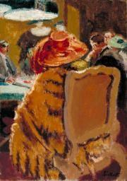 Walter Richard Sickert 'Baccarat - the Fur Cape', 1920