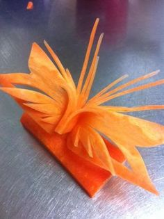 CARROT BUTTERFLY :Fruit and Vegetable Carving by Mr.Carrot : Ultimate Bu...