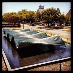Santiago Calatrava, Wave, #MeadowsMuseum, Sculpture Garden, Sculpture, Museum, Museum Sightings