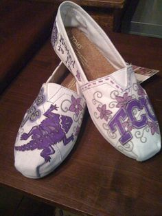 Handpainted Toms by ThecRudehArt on Etsy, $30.00