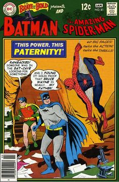 Super-Team Family: The Lost Issues!: Batman and Spider-Man (Retro) Whoa. Old Comic Books, Vintage Comic Books, Comic Book Covers, Vintage Comics, Vintage Posters, Dc Comics Vs Marvel, Old Comics, Batman Comics, Looney Tunes
