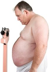 Obese Man on a Scale, Smaller