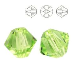5328 Bicone 6mm Peridot 10 pieces  Dimensions: 6,0mm Colour: Peridot 1 package = 10 pieces