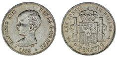 2 SILVER PESETAS / 2 PESETAS PLATA. ALFONSO XIII. 1889*. VF+/MBC+. INTERESANTE.