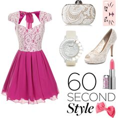 pinky prom <3 by hannderella on Polyvore featuring Chi Chi, Jessica McClintock, Galtiscopio, Talula, Prom and 60secondstyle