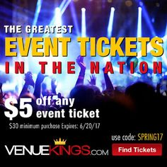Incredible Fathers Day Promotion at Venue Kings! Bring It On, Let It Be, Concert Tickets, Memorial Day, Fathers, Promotion, 21st, The Incredibles, Events