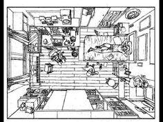 como dibujar una habitación en perspectiva vista de pájaro - YouTube Room Perspective Drawing, Storyboard Drawing, Animation Tutorial, Art Inspiration Drawing, Lyric Art, Comic Panels, Environment Concept Art, Architecture Drawings, Drawing Practice