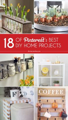 The absolute best home decor tutorials to help you organize, decorate and entertain with ease. #DIY #HomeProjects