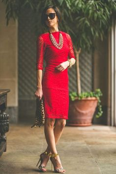 Sequins and Things: Lady in Red