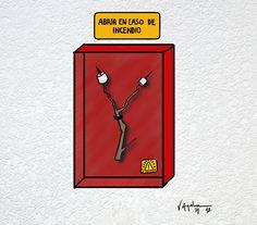 En caso de incendio.