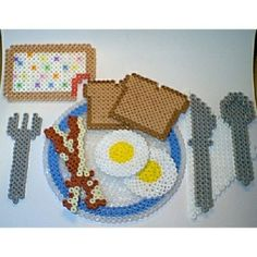 Breakfast hama perler beads by clementinainventa