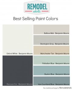 Most Popular and Best Selling Paint Colors. Remodelaholic Most Popular and Best Selling Paint Colors. Foyer Paint Colors, Indoor Paint Colors, White Paint Colors, Paint Colors For Living Room, Interior Paint Colors, Paint Colors For Home, White Paints, Wall Colors, House Colors