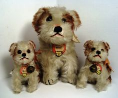 The Margarete Steiff Company is known all around the world for producing some of most delightful, enduring and beloved soft toys for children of all ages. Antique Teddy Bears, Steiff Teddy Bear, Wire Fox Terrier, Animal Ears, Vintage Dolls, Vintage Items, Retro Toys, Antique Toys, Old Toys