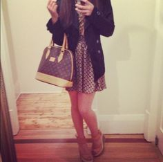 New bag and dress!! Completely and utterly obsessed! mvenga.blogspot.com