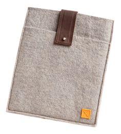 wool felt ipad sleeve.