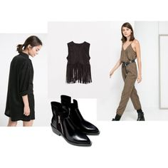 A fashion look from August 2014 featuring fringe tops, jump suit and long sleeve jumpsuit. Browse and shop related looks. Fringe Tops, Jumpsuit With Sleeves, Fashion Looks, Suits, Long Sleeve, Polyvore, Shopping, Outfits, Long Dress Patterns