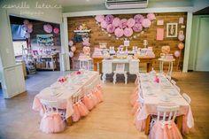 Linda decoração do salão para Festa Bailarina!!!