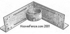 Wood post adapters allow one to mount regular 2 x 4 wood rails of a fence section to a steel galvanized round post. These are very handy wh...
