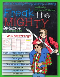Freak The Mighty, by Rodman Philbrick: Interactive Layered Flip Book ($)