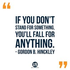 What do you stand for?  #QOTD