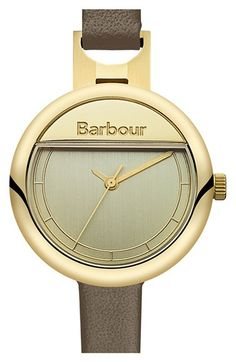 Barbour 'Heritage' Leather Strap Watch, 30mm available at #Nordstrom
