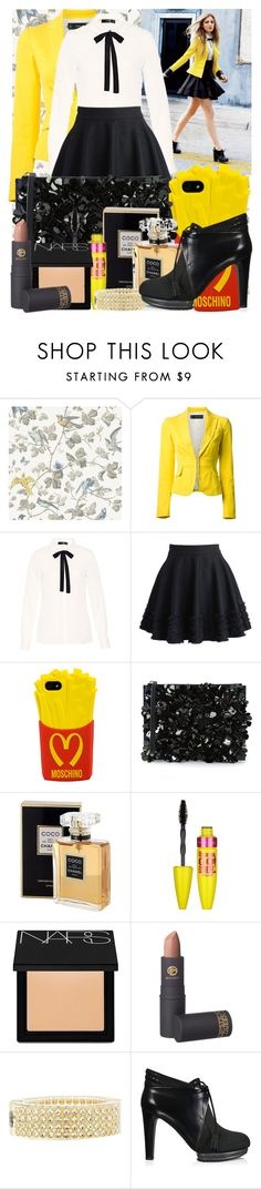 """""""I can do it*"""" by maryterojasf ❤ liked on Polyvore featuring Cole & Son, Dsquared2, Hallhuber, Chicwish, Moschino, Marni, Chanel, Maybelline, NARS Cosmetics and Lipstick Queen"""
