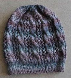 Ravelry: Sausalito Smoky Cables-and-Lace Hat pattern by Cathy Campbell