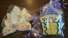 Rapunzel cookies by Ladybugcakesdotcom on Etsy