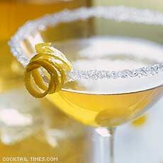Lemon Drop  2 oz vodka  juice of half a lemon  1/2 oz simple syrup  lemon twist to garnish  Mix all ingredients in a shaker with ice. Strain into a shot glass. Drop in a lemon peel.