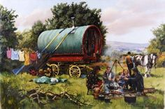 gypsy camp paintings