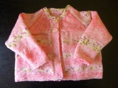 Handmade knitted baby girls multi coloured pink by BulldogKnits, £23.00