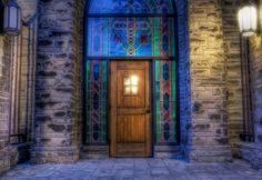 Chapel Door ~ Southwestern University Campus Chapel in Georgetown, TX