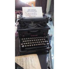 Typewriter Urania by Muller Russian Cyrilic 1938 Typewriter, Vintage, Vintage Comics, Primitive