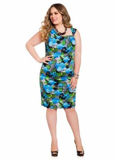 e1e660d8262 Ashley Stewart Women s Plus Size Printed Asymmetrical Sheath Dress
