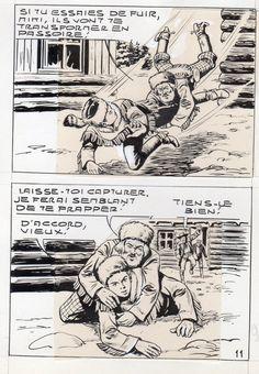 MIKI LE RANGER LES TRAPPEURS  PLANCHE  MONTAGE NEVADA 1959 PIECE UNIQUE PAGE 11 fr.picclick.com