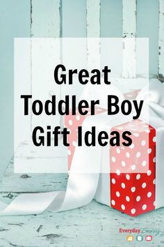 Great Toddler Boy Gift Ideas