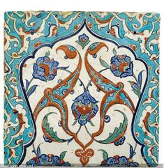 IZNIK CERAMIC, 16 > (Turkey)  Title : TILE  Date : ca 1580  TILE sold by Sotheby's, London, on Tuesday, April 24, 2012