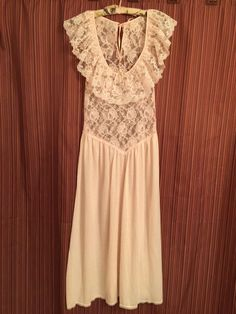 Vintage Victoria s Secret SM Pink Nightgown Petite USA See Through Lace 28  Bust   eBay 3dc2bb3b05ed