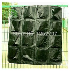 Verticale tuin groeien zakken 16 plastic zakken planter home garden muur planters living garden bag tuin decoratie 82*87 cm(China (Mainland))
