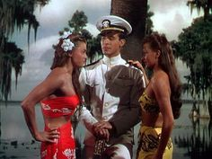 Esther Williams,Ricardo Montalban, and Cyd Charisse in ''On an Island With You''  1948