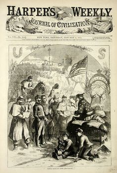 Passion for the Past: Simply Dickens: Purveyors of Old World Christmas Music  Jan 3, 1863 Thomas Nast's Santa Claus. Jeff Davis is the puppet in his hand ( with string around his neck) ...