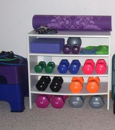 Ideas For Fitness Equipment Storage Workout Rooms Workout Room Home, Workout Rooms, At Home Workouts, Cardio Workouts, Exercise Rooms, House Workout, Basement Gym, Garage Gym, Basement Ideas