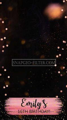 Pink-glitter | Black-glitter Birthday snapgeofilter | Birthday Snapchat filter |snapchat geofilter