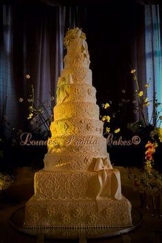 Exclusive & Luxury Wedding Cake by Karen & Lourdes Padilla @ Condado Vanderbilt Hotel, San Juan Puerto Rico