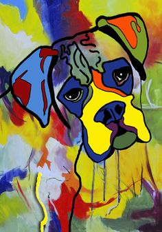 Abstract boxer art.  Prints and giclees available.  Contact www.karrenmgarces.com