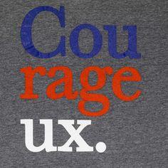 Cou-rage-eux Grey V-Neck T-Shirt - S / Heather Grey / 90% Cotton / 10% Polyester