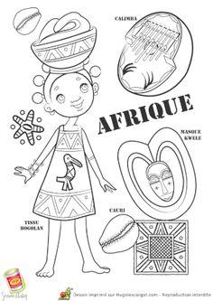 Coloriage afrique